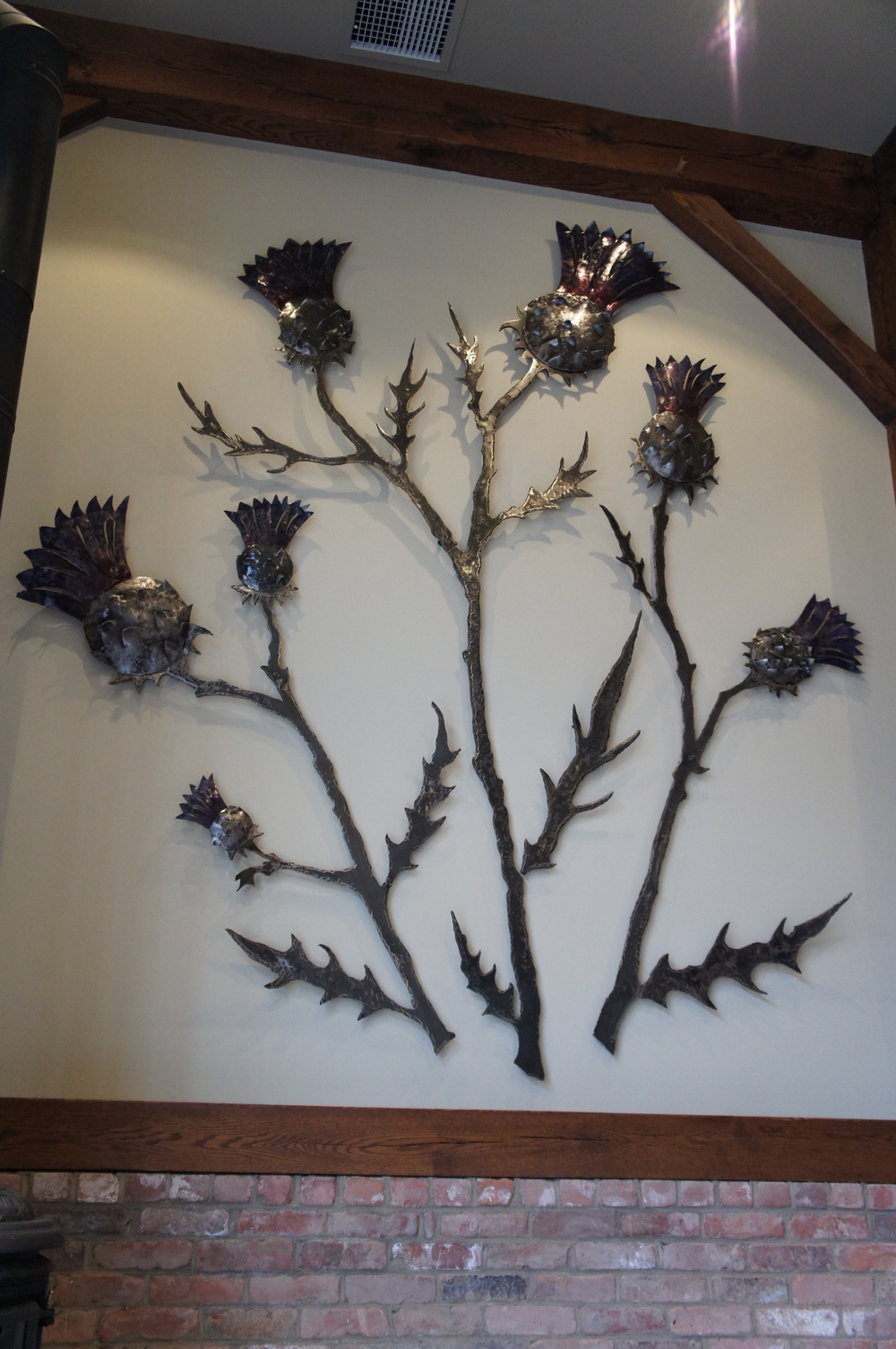 Thistle Wall Sculpture