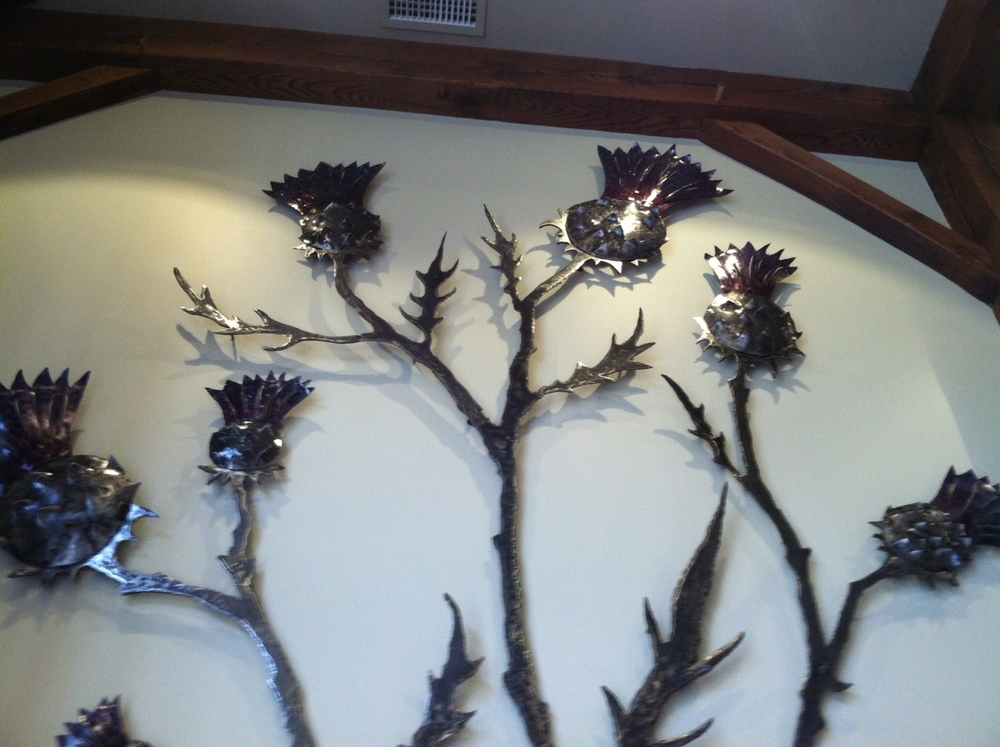 Thistle Wall Sculpture, Detail