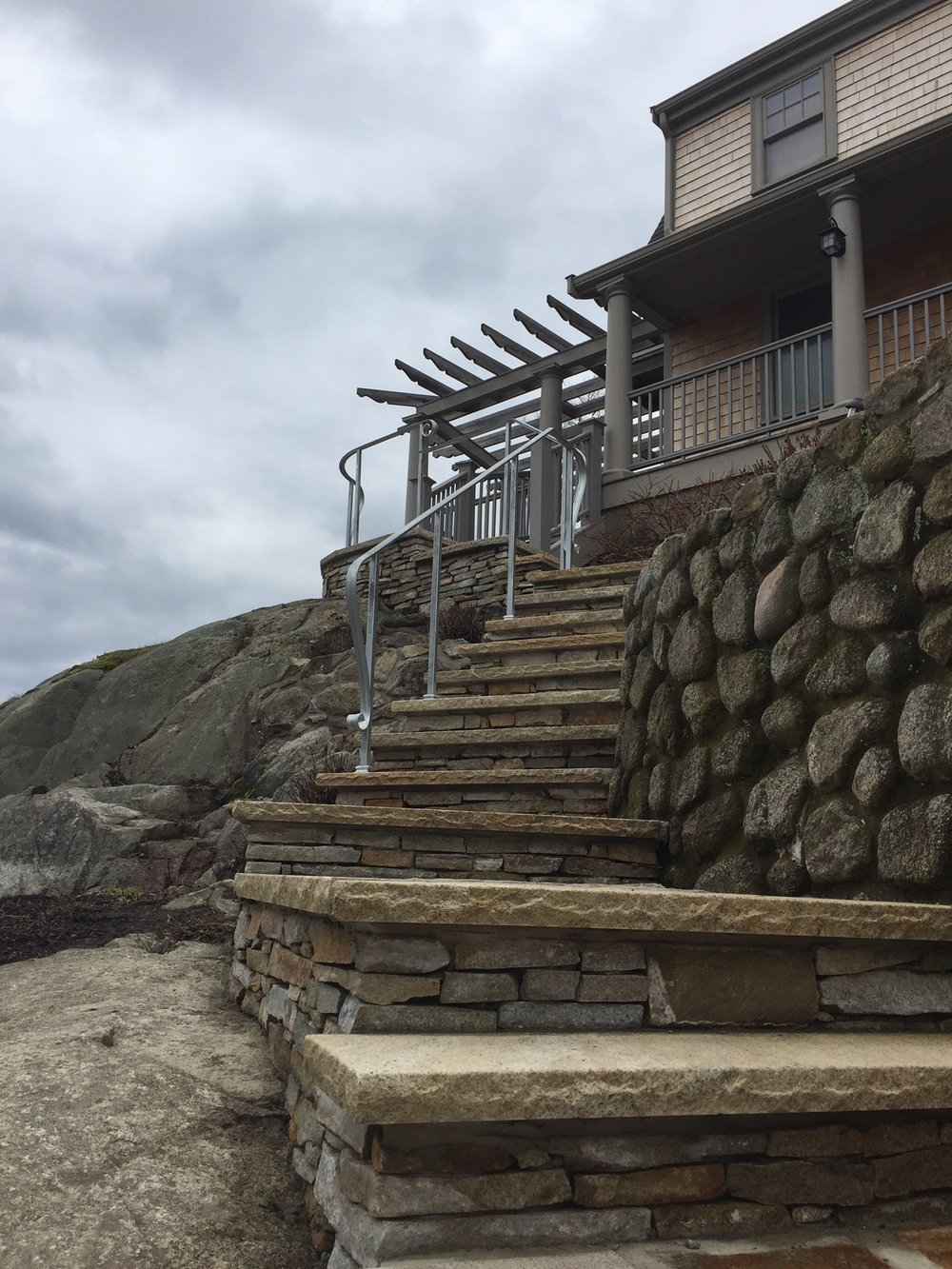 Oceanside galvanized rails