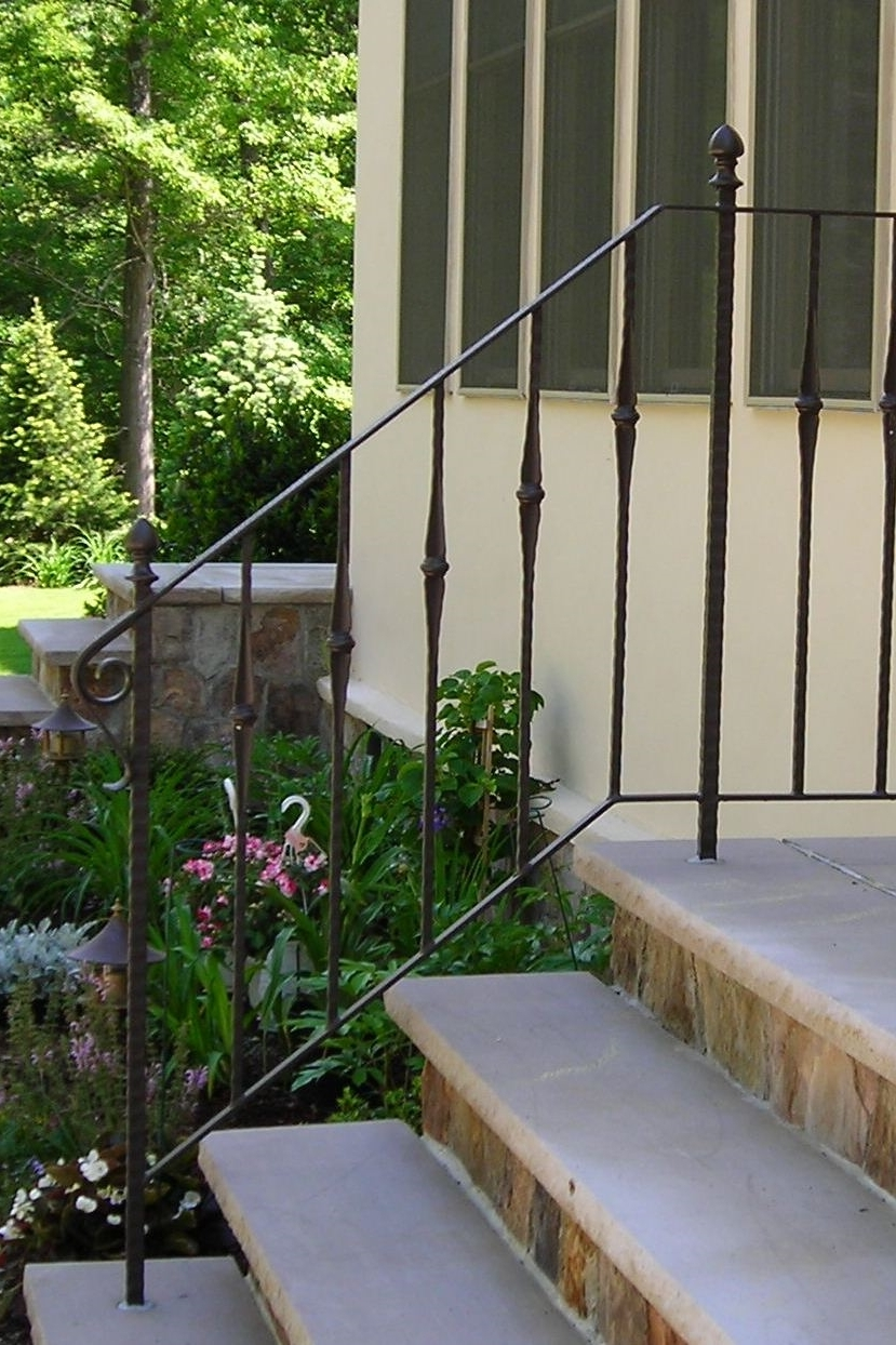 Custom Railing with Cast Pickets & Finials