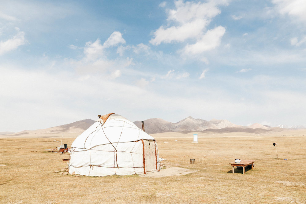 Yurt in Song Kol Lake
