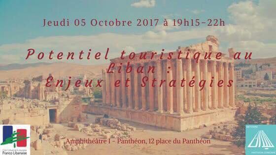 Le 5 octobre 2017    Organisée par Meydane Panthéon-Sorbonne   Le patrimoine du Liban est aujourd'hui au coeur de tous, nous qui aimons le Liban et sa préservation. Mais une question que beaucoup de libanais de la diaspora se posent : l'avenir du patrimoine libanais conditionne-t-elle le tourisme au Liban ?