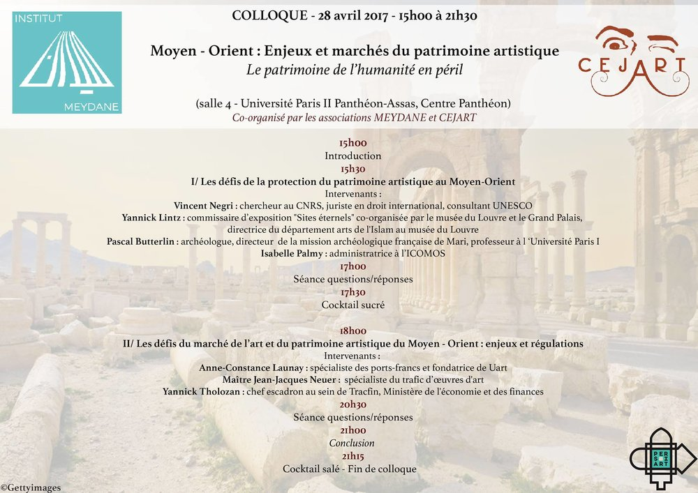 Le 28 avril 2017    Organisée par Meydane Panthéon-Sorbonne