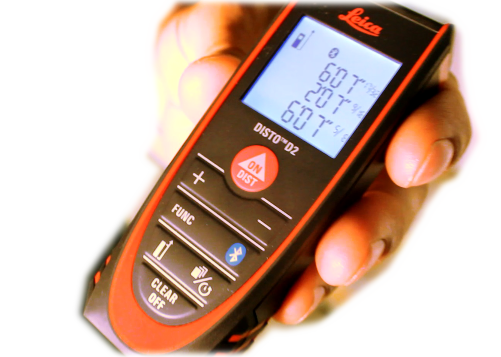 Leica DISTO laser distance meter - integrates with our app.