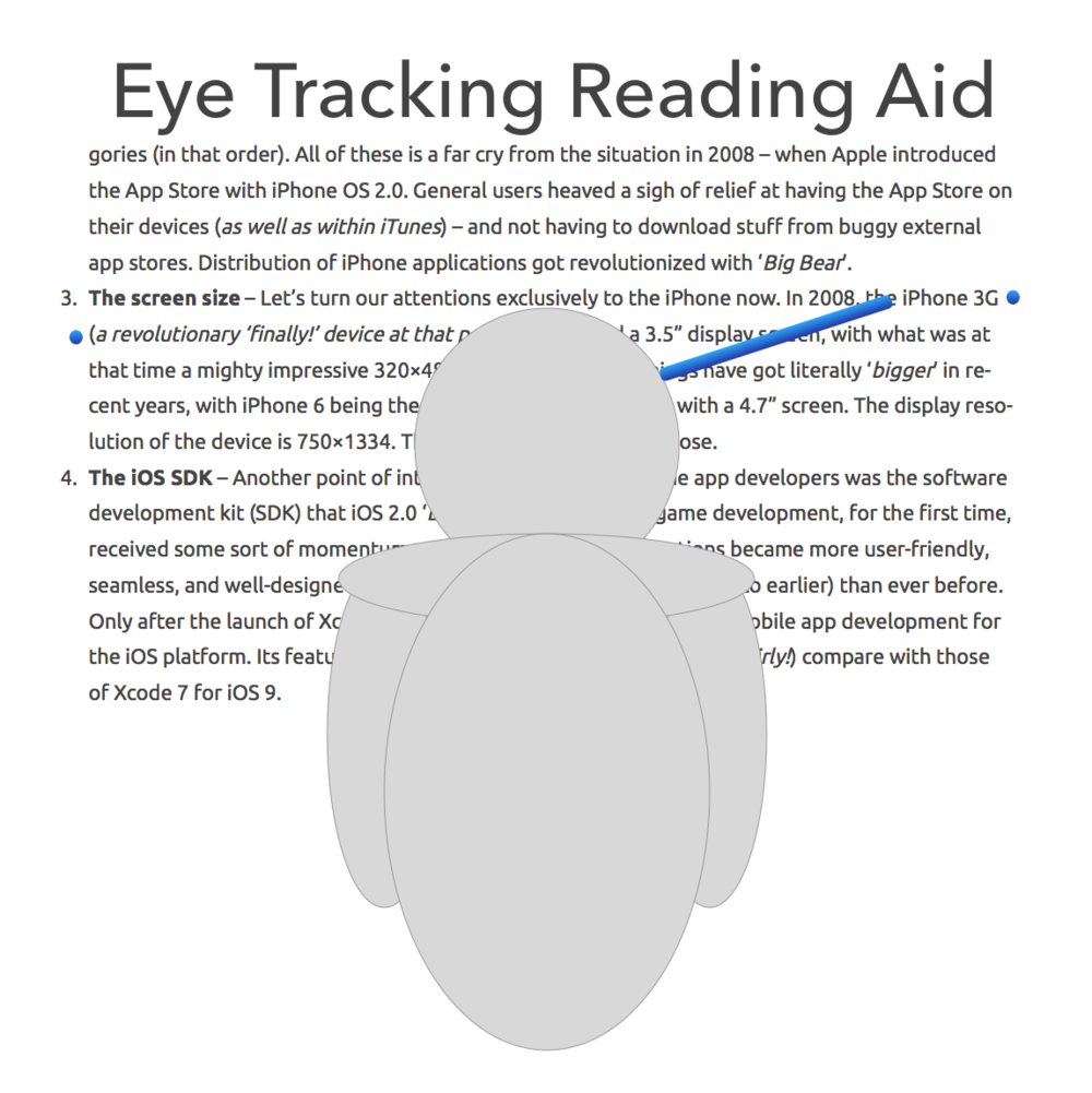 VR Reading Aid using Eyetracking