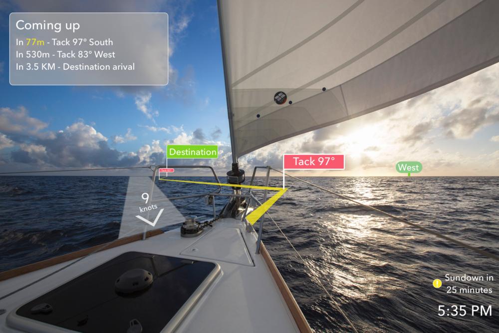 Sailing Navigation AR app