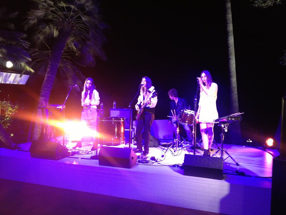 Performances by Haim