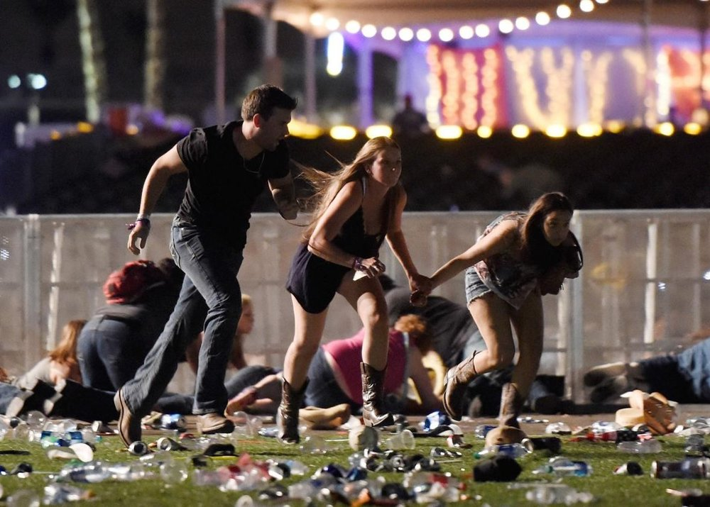Route 91 Country Music Festival in Las Vegas (2007)  - In approximately nine minutes, the attacker shot around 1,100 rounds, according to reports from Las Vegas Metro Police Department. This attack claimed the lives of 58 people with a still undetermined number of others (estimates are in the hundreds) wounded by gunfire.