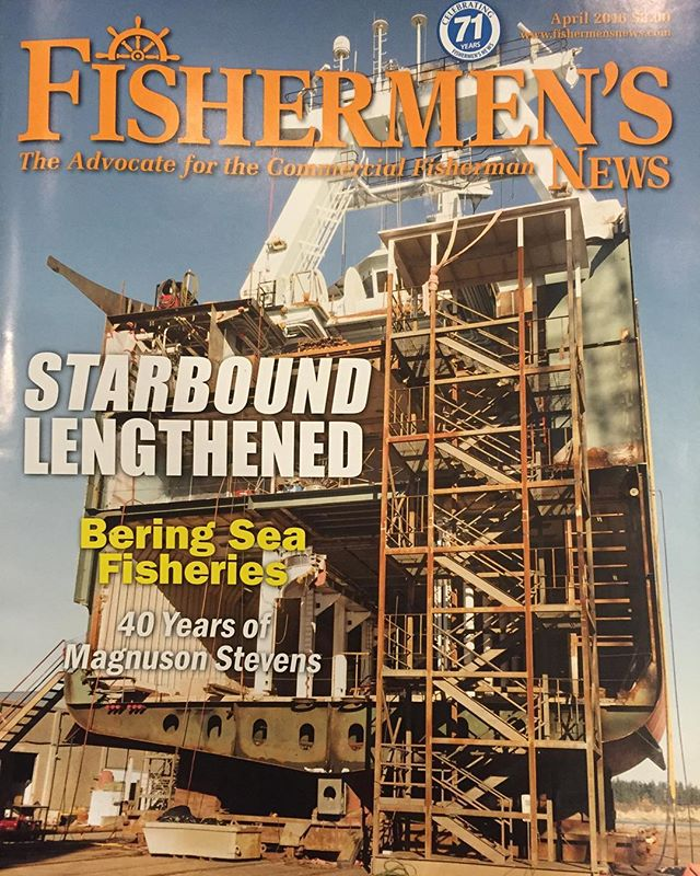 Great article in #fishermansnews on the Starbound conversion. #navalarchitecture #shipdesign #fishing #fvstarbound #trawler #shipbuilding #dakotacreekindustries #aleutiansprayfisheries