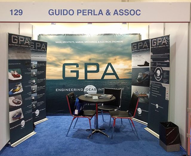 GPA at the International Tug, Salvage & OSV Convention and Exhibition in Boston. BOOTH 129 #its2016 #tugboat #tugboats #salvage #offshorevessel #navalarchitecture #marineengineer #salvagevessel