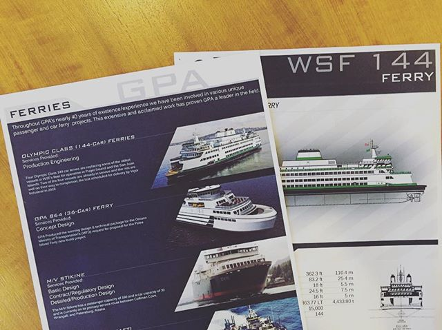 Throughout GPA's nearly 40 years of existence/experience we have been involved in various unique passenger and car ferry projects. #gpadesigns #ferry #carferry #passengerferry #navalarchitecture #marineengineer #marineengineering #washintonstateferry