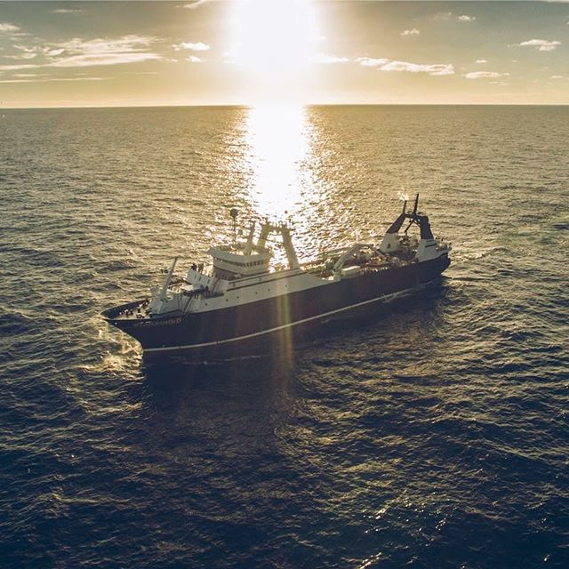 Gorgeous shot of 300' F/V Starbound. PC: Ben Staley. #navalarchitect #navalarchitect #fishing #fishingboat #dakotacreekindustries #aleutiansprayfisheries #ftstarbound #marineengineering