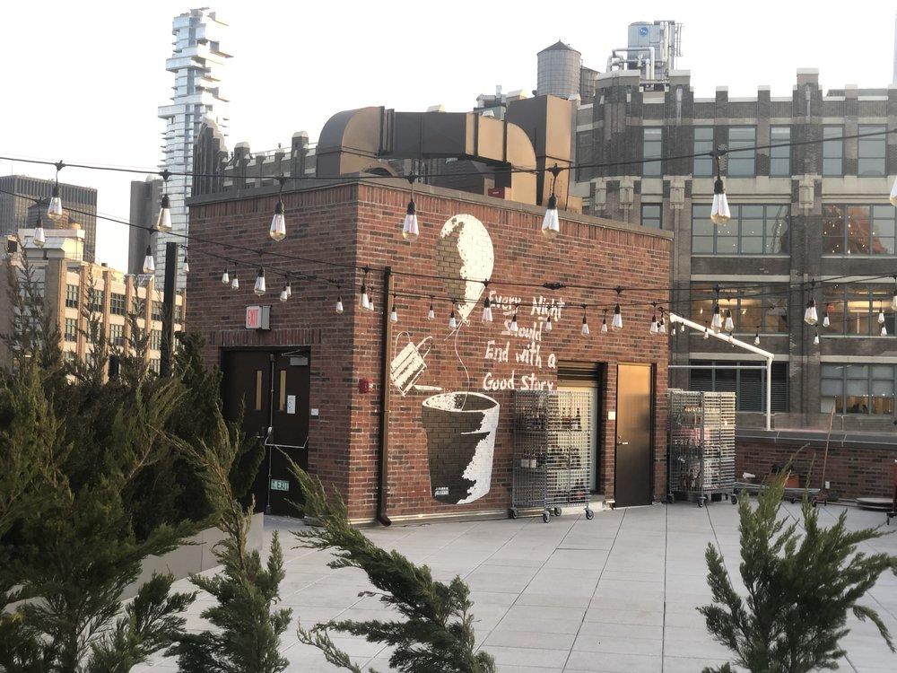 Rooftop Mural -