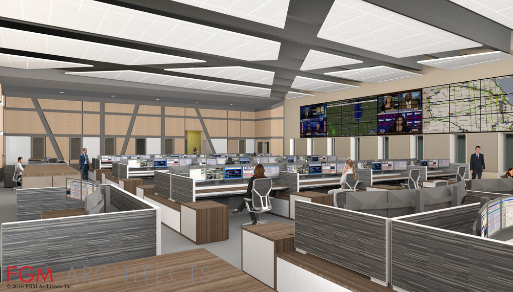Addison Consolidated Dispatch Center (Rendering courtesy of FGM Architects)