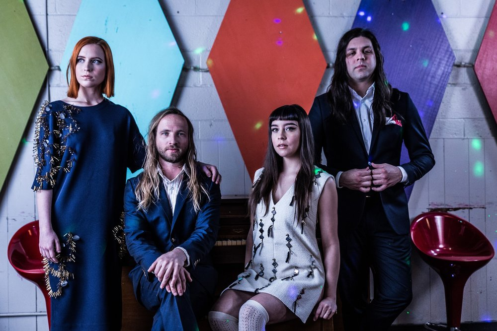Siamese is the glam rock band of four theatrically inclined friends from Dallas, TX. Mixing ominous art pop with opulent set design and deranged alter egos, their live show makes you feel like you could go out and invent a new color, or wear a leotard to work.