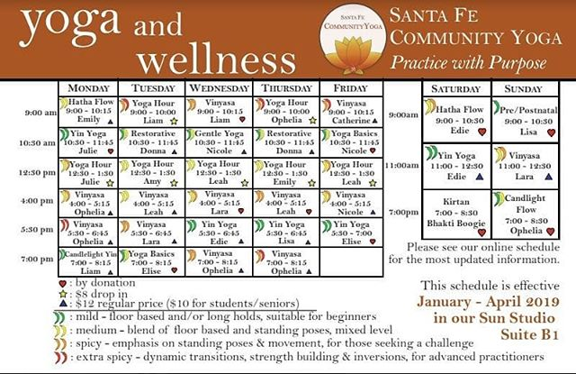 With more than 20 NEW classes,  make your 2019 resolution to Practice with Purpose at SFCY! #yogacommunity #yogaeveryday