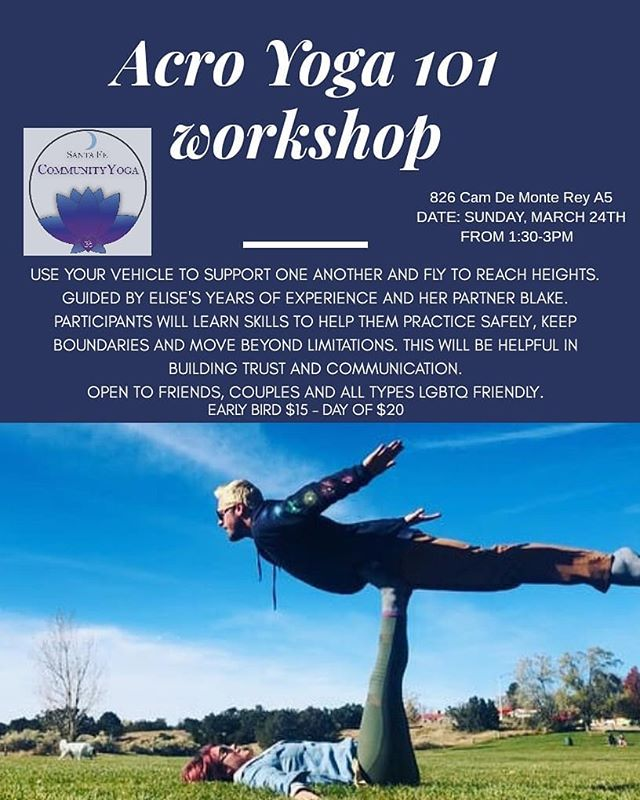 Learn to base, fly & trust this Sunday at SFCY! #acroyoga