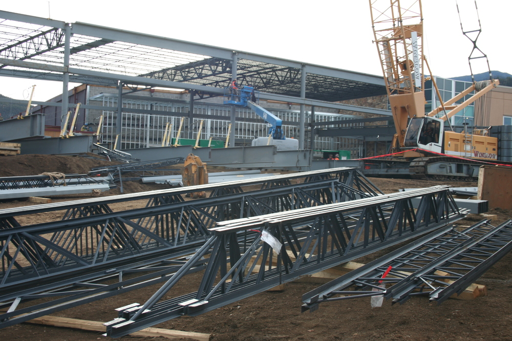 Steel for the new student commons.