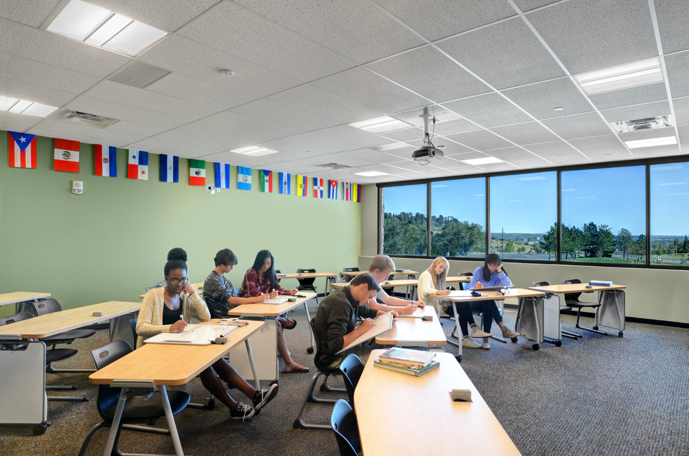 Classrooms are complete with flexible furniture, access to natural light and increased square footage.
