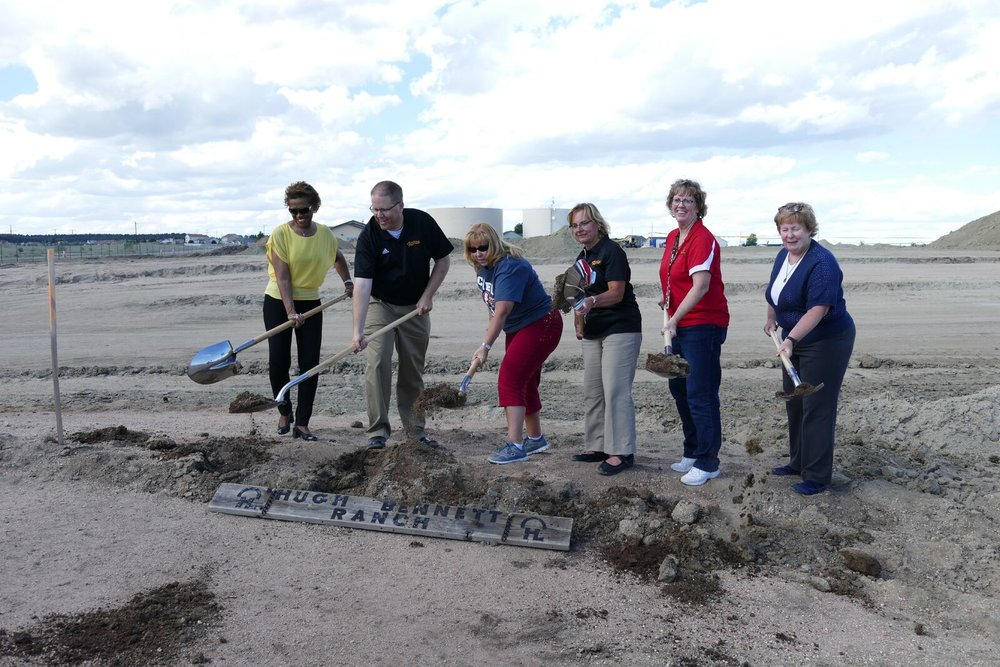 Falcon Zone Coalition members breaking ground.
