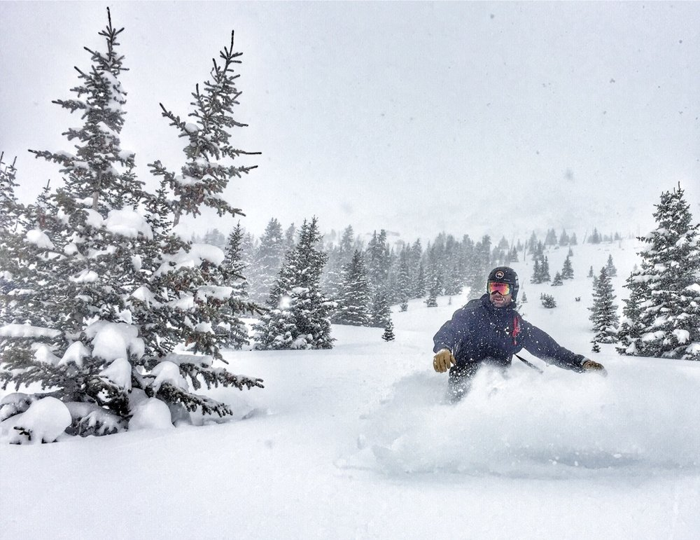 shredding some pow in April at my favorite spot - Jones Pass (pic credit Dave Marcus)