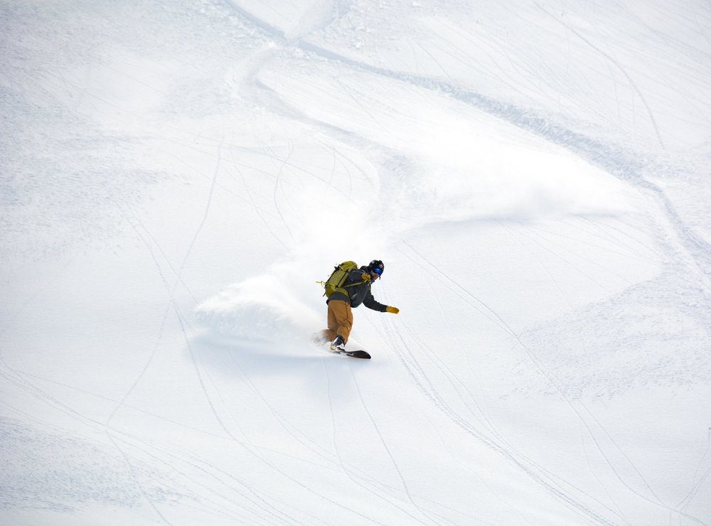 Shredding some Mt Baker Pow (pic courtesy of Zach Birmingham)