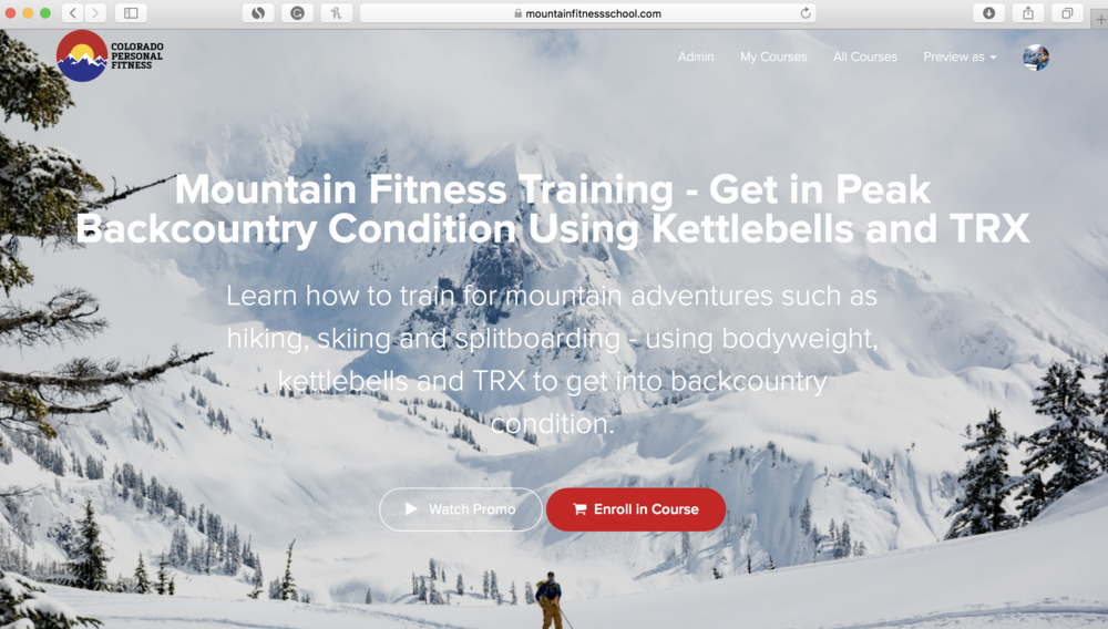 Mountain Fitness Training Online Course