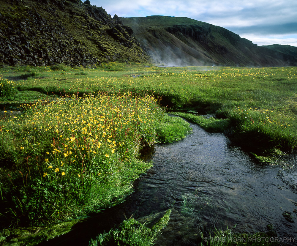 Hot Spring at Landmannalaugar, Iceland |Velvia 50 | Handheld