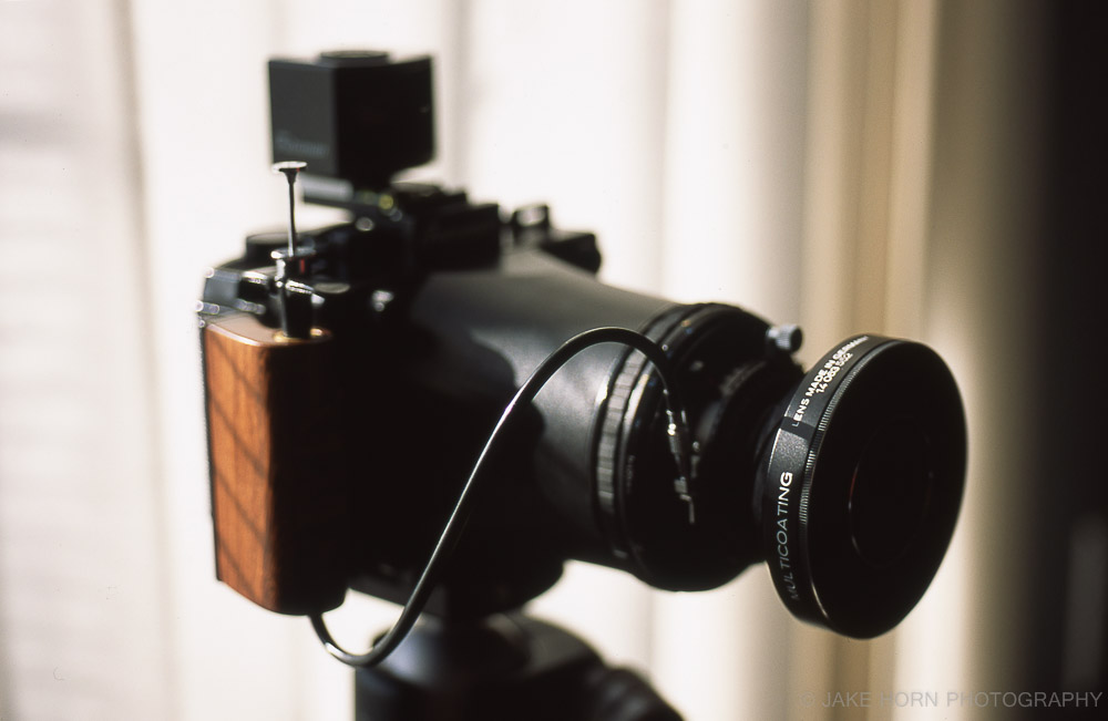 Using the Fotoman Viewfinder and 120mm f8 Super-Angulon XL