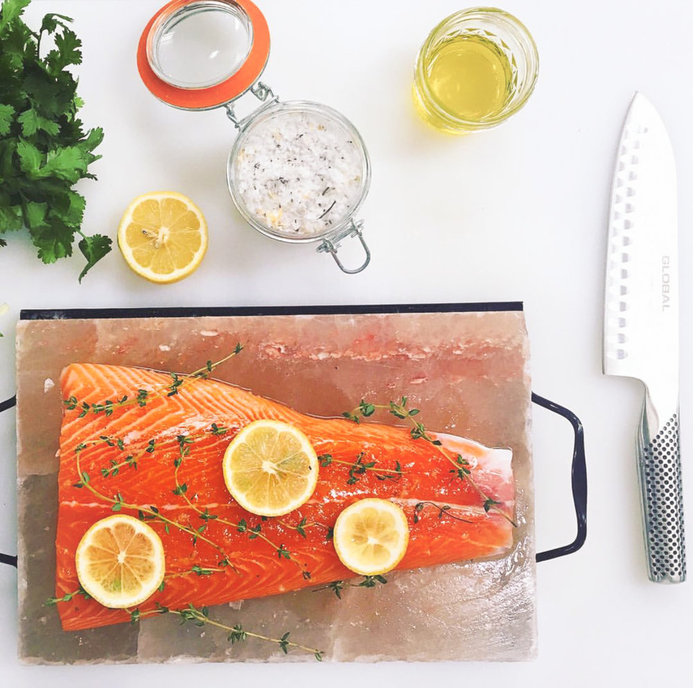 BAKED WILD SALMON  I love having perfectly cooked Salmon in the refrigerator for salads or a cold quinoa bowl. Eat it warm, room temperature or save some in the fridge for tomorrow's lunch. My kids even love it!  RECIPE: Glazed Baked Salmon