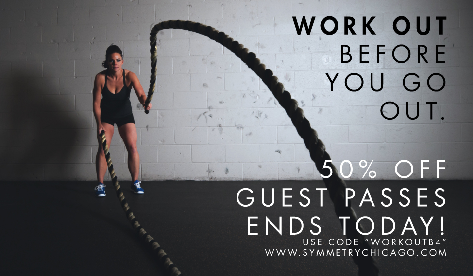 Symmetry Chicago offers 3500 square feet of raw gym, training, and personal training space.
