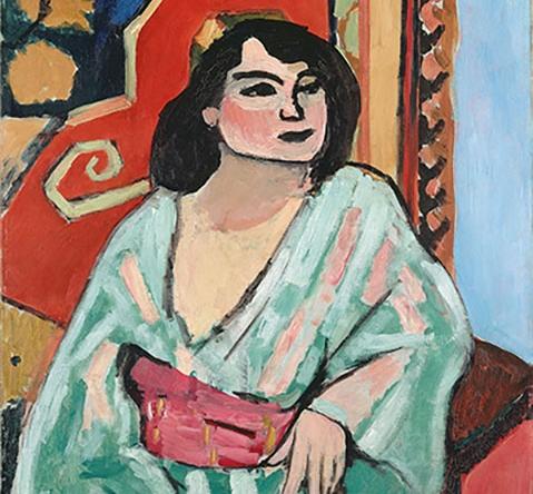 Henri Matisse. L'Algérienne , 1909. Oil on canvas. Collection Centre Pompidou, Paris. MNAM-CCI. Legs du Victomte Guy de Cholet aux Musées nationaux, 1916, 2009. AM 2009-214. © 2015 Succession H. Matisse/Artists Rights Society (ARS), NY;