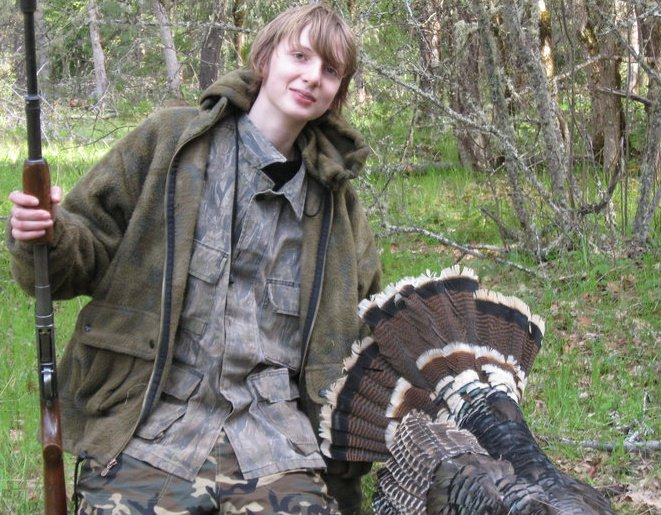 My nephew, Dalton, on a successful wild turkey hunt several years ago.