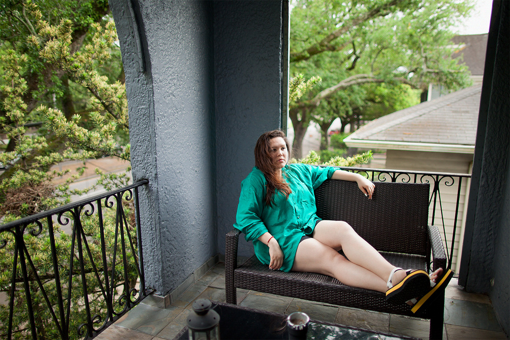 Enjoying the New Orleans breeze.