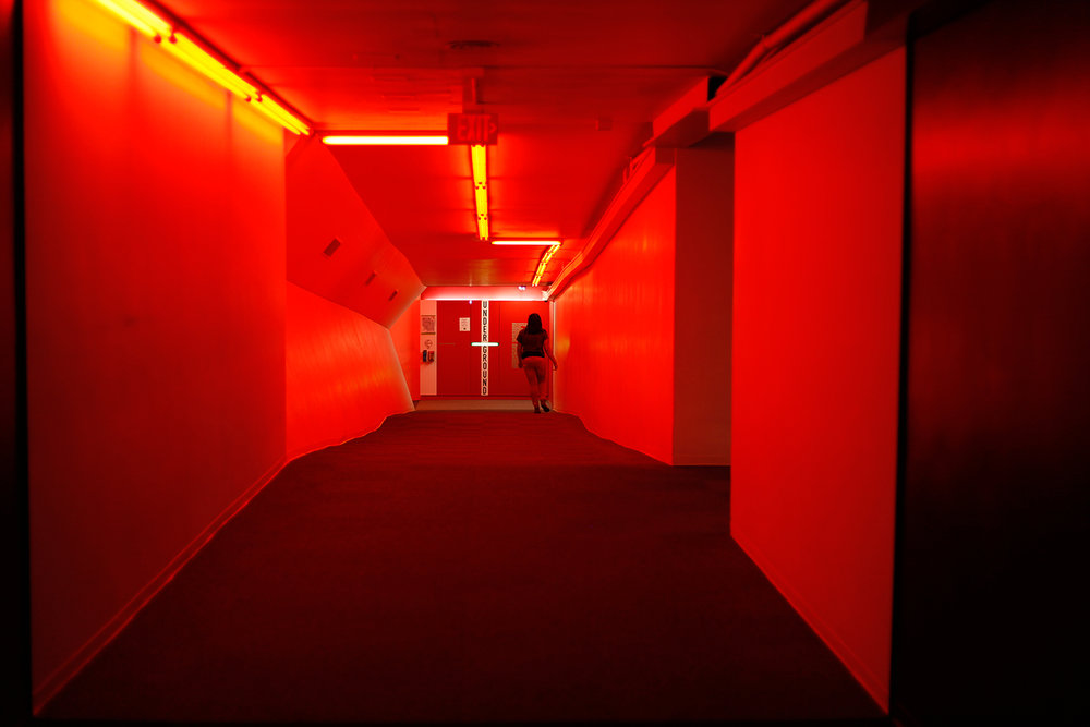 The red tunnel.