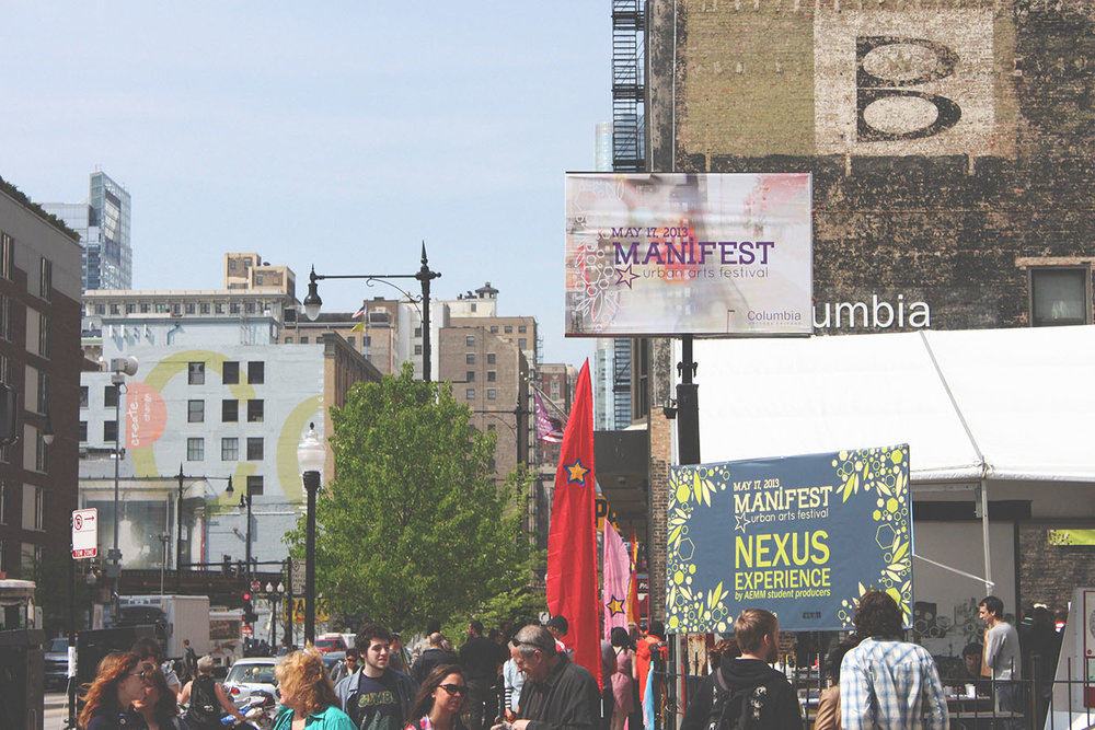 Large billboard banners for the day of.