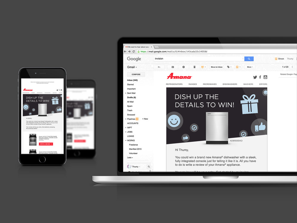 Newsletters for both desktop and mobile.