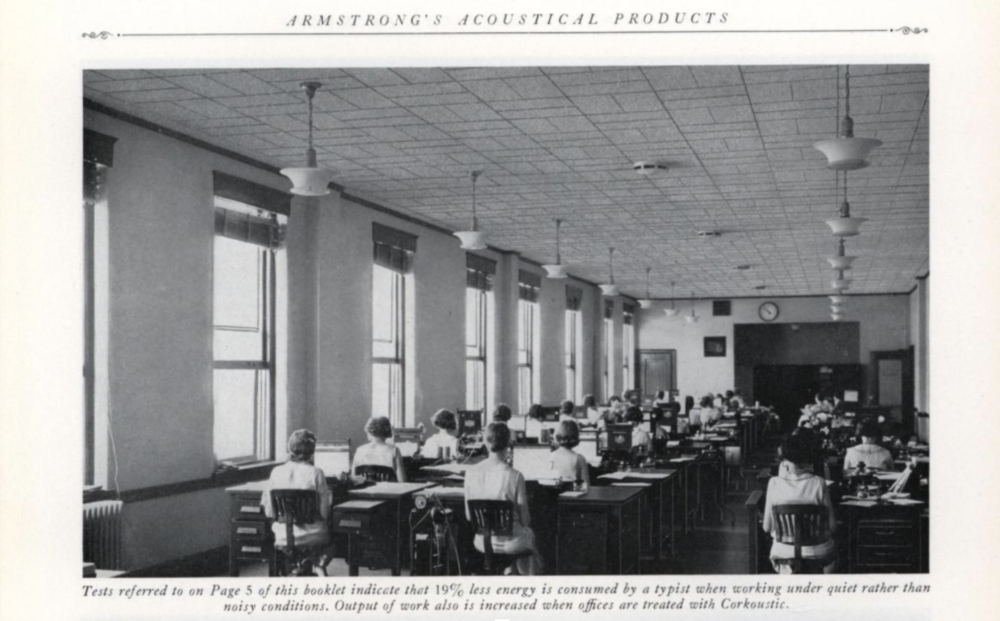 Armstrong Acoustical Products advertisement from 1932. via  Archive.org .