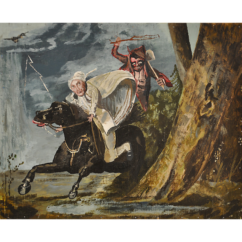 A Painting of a Painting by Charles Deas Titled: A Devil and Tom Walker, 1838