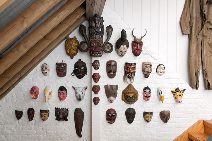 PETER BLAKE. Masks from the collection of Sir Peter Blake, photo Hugo Glendinning