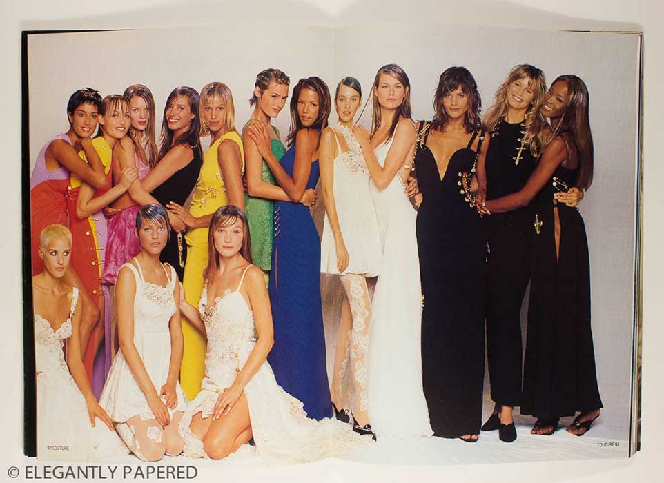 Naomi Campbell, Christie Turlington, Kate Moss, Helena Christensen, Claudia Schiffer, Carla Bruni, Yasmin Le Bon, Yasmeen Ghauri, Meghan Douglas...the list goes on! All the Supers together...