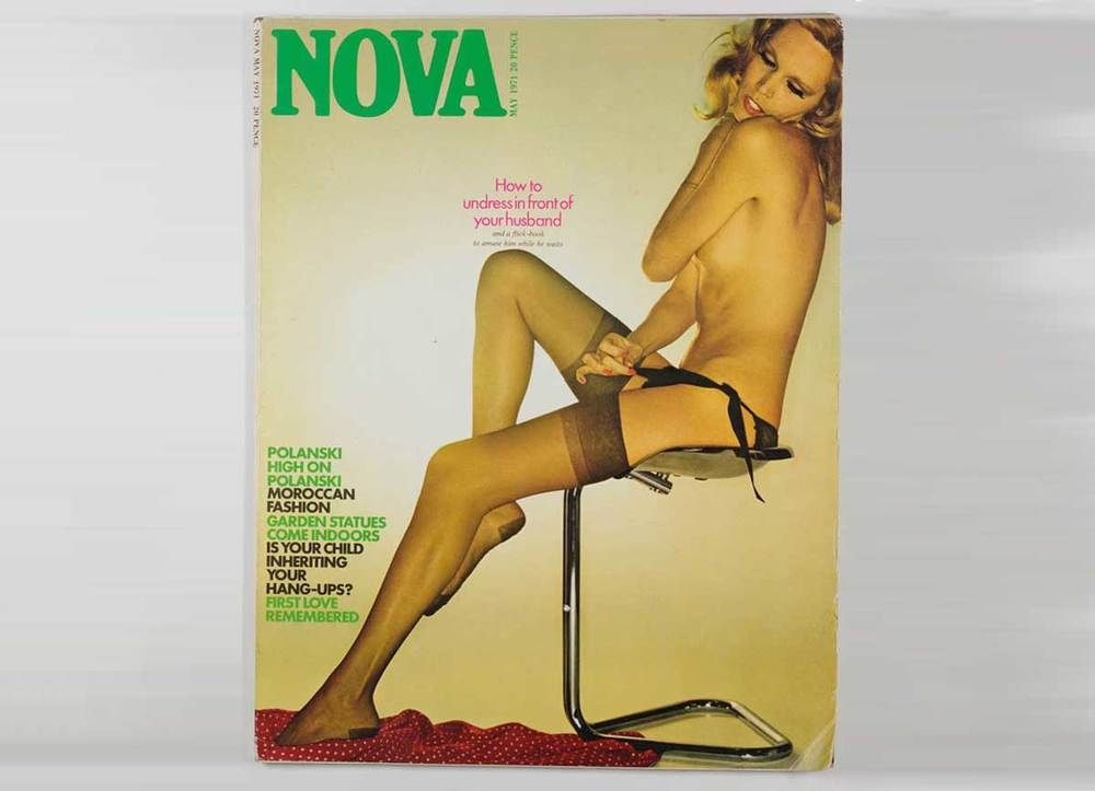 The infamous Duffy 'How to undress for your husband' shoot is inside this 1971 issue. Model: Amanda Lear.
