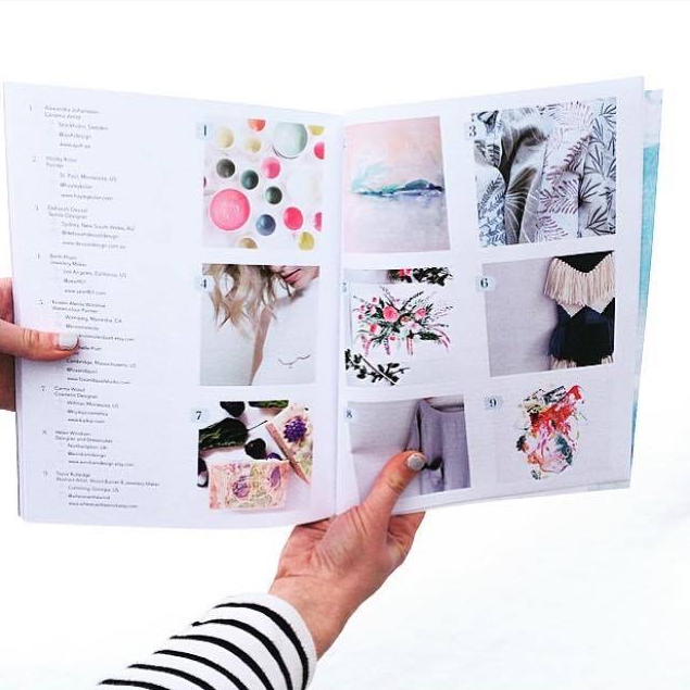 """When one of your paintings appears in a stunning magazine.   Congratulations   @makersmovement   on your first issue - I want to frame almost every page of this beautiful work of art!"" - @kristenaleida"