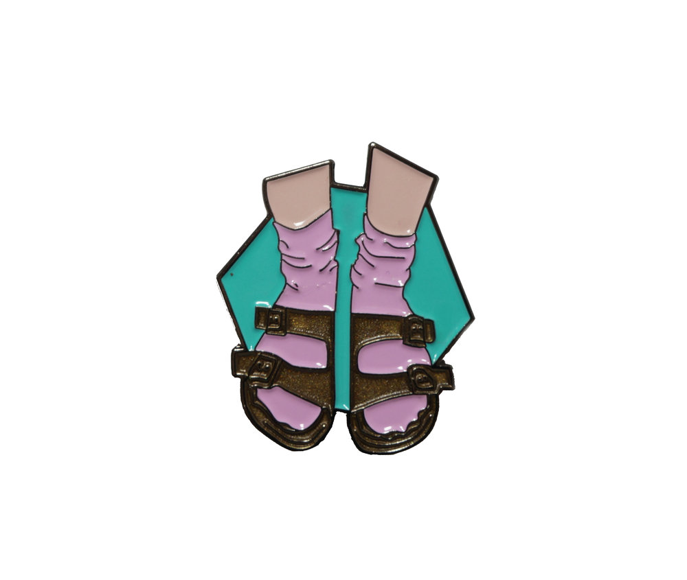 Socks and Sandals Pin by Victoria / Laundry Day.