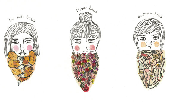 Bearded Women illustration by Laurie / Laurie B Illustrations.