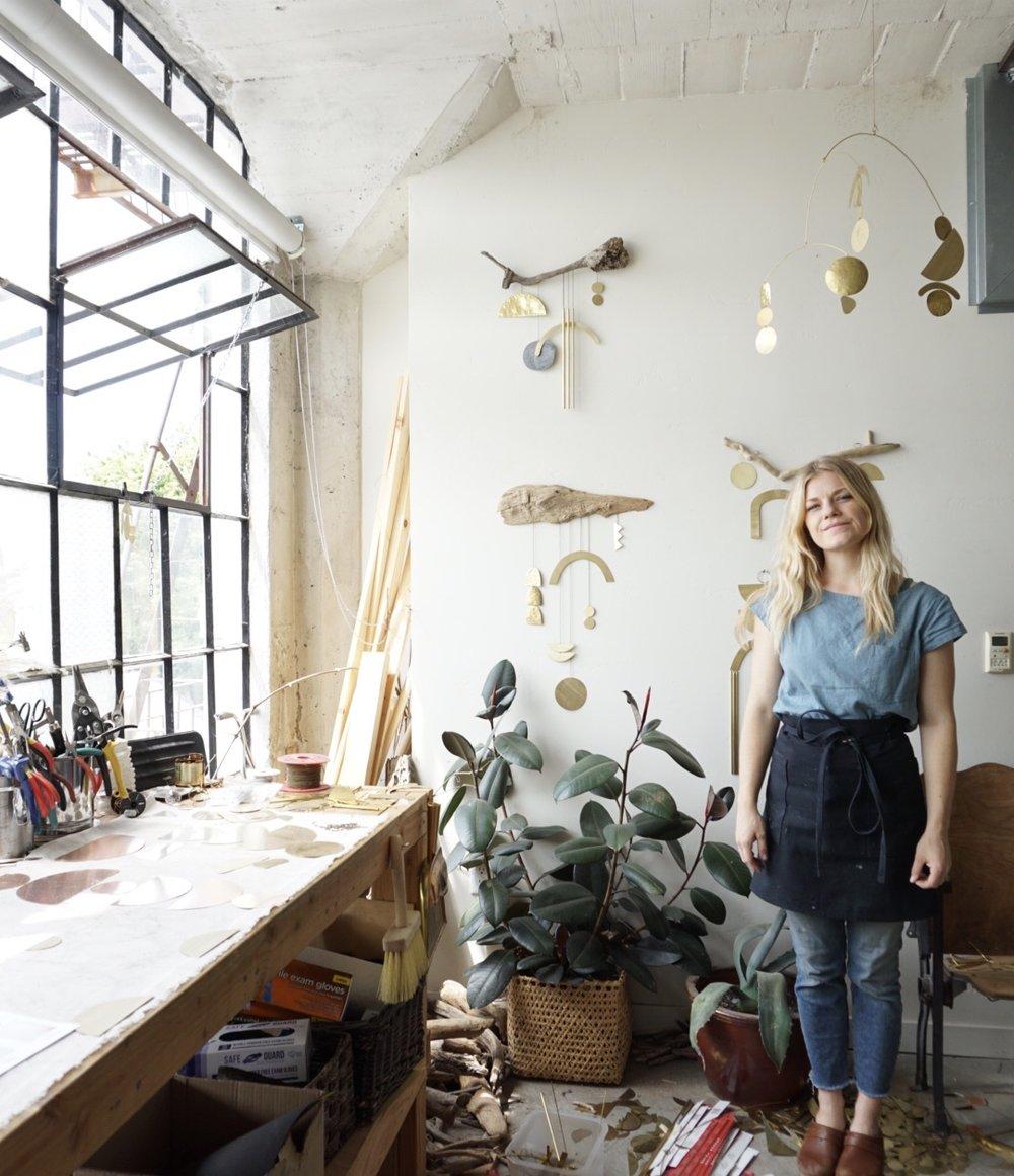 Sarah Perez in her Sacramento-based studio