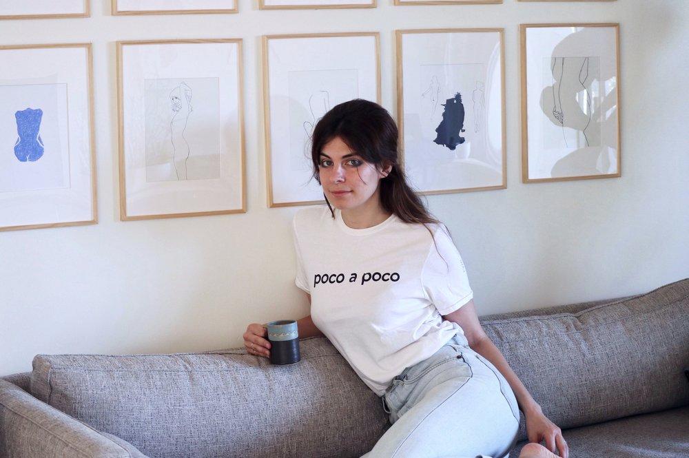 Nina Klein in her LA-based home