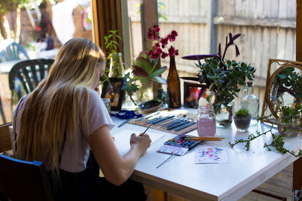 Emma Rssx in her creative space