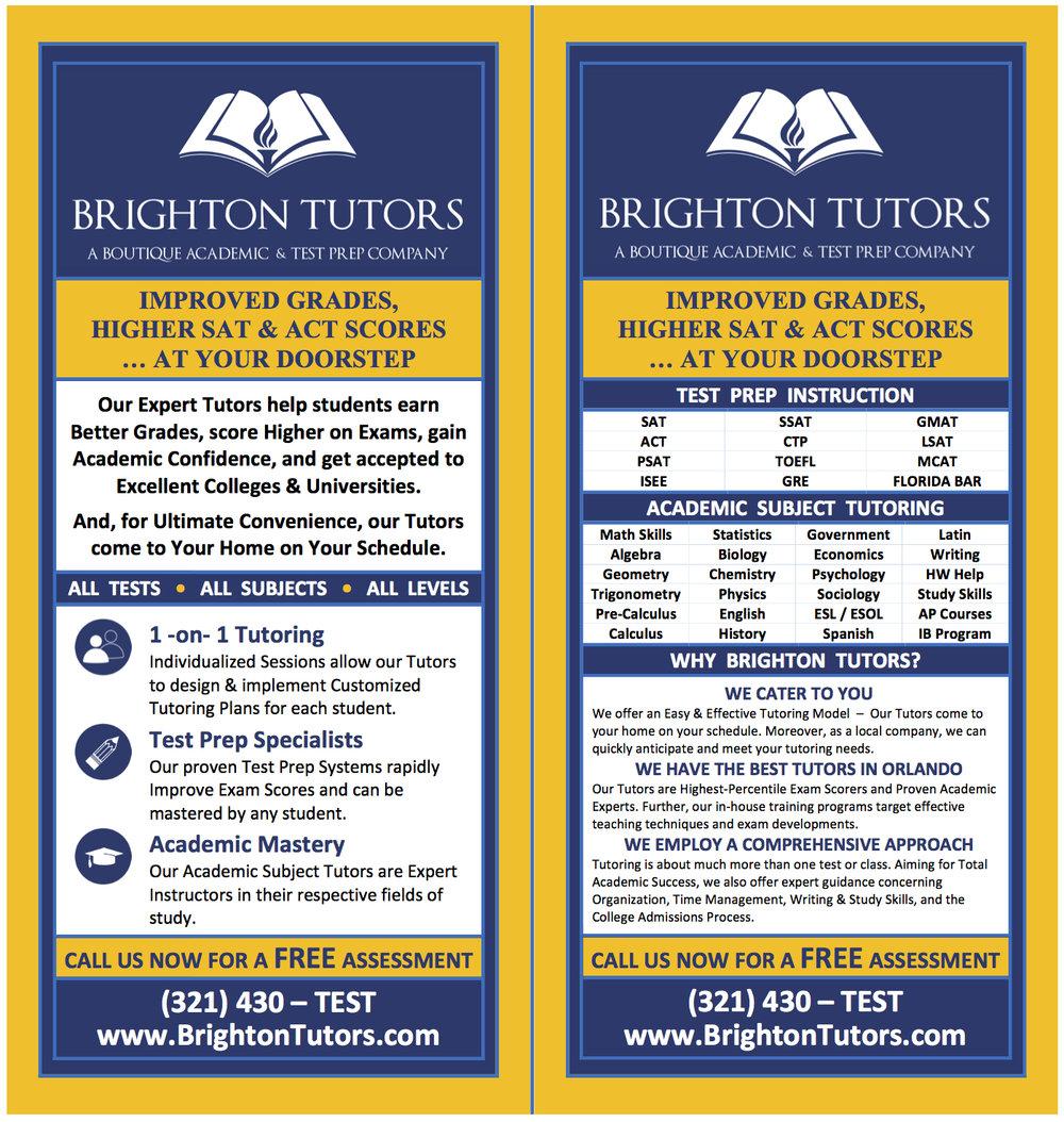 Brighton Tutors Tutoring Flyer