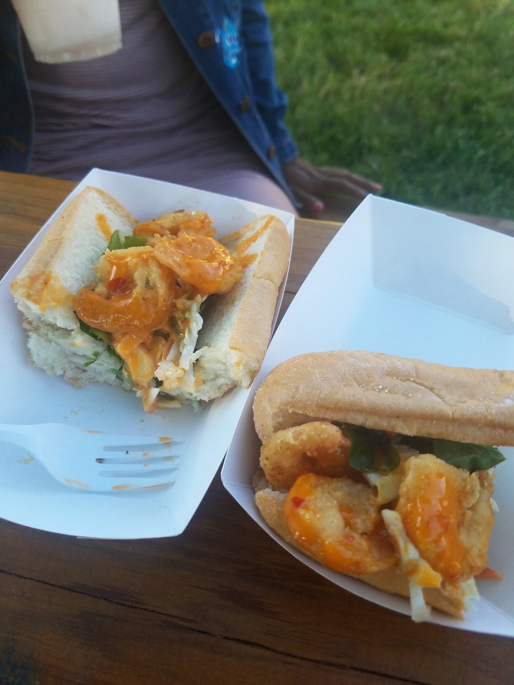 Lucky Peach Food Truck Shrimp Po Boy